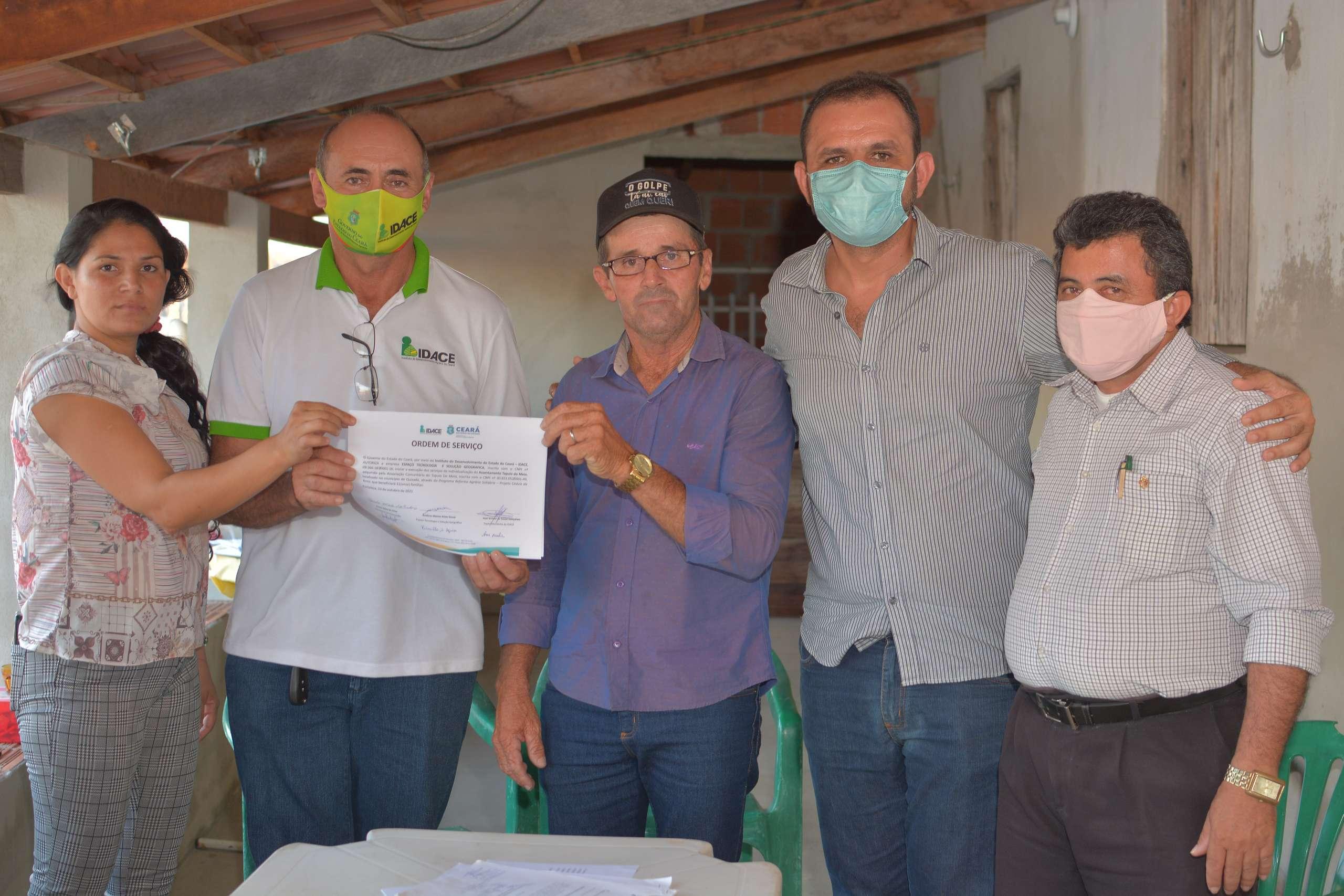 Idace inicia individualização de glebas em Tapuio do Meio, em Quixadá